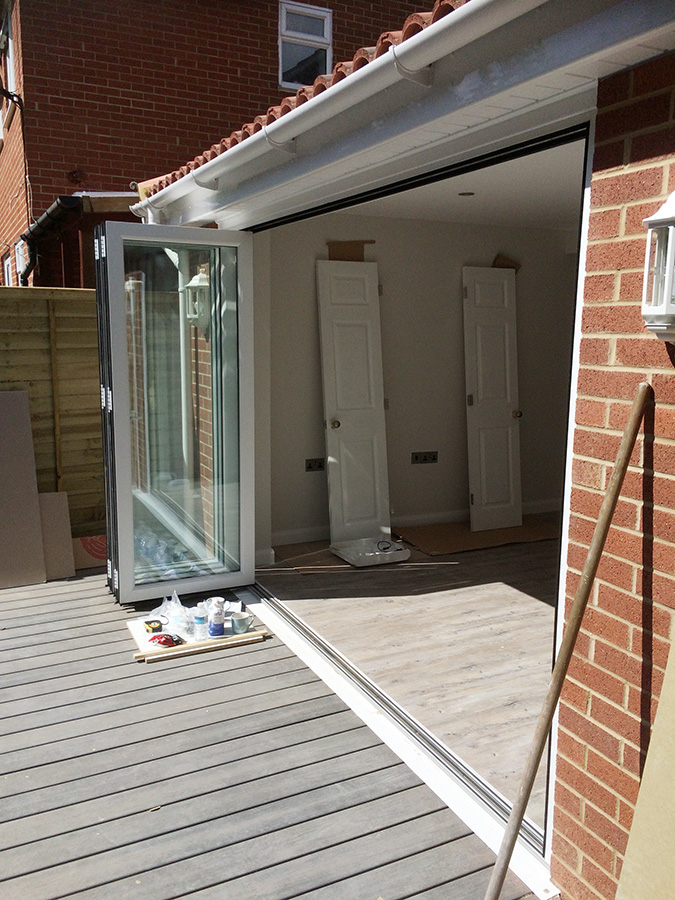 Bifold Door Installation : Transforming lives with a total refurbishment build and