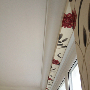a great finish new coving and wallpaper