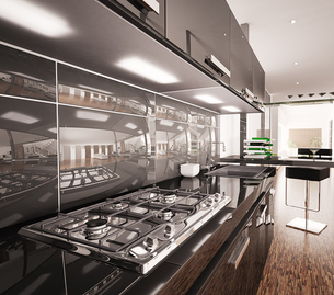 Glossy new kitchen refurbishment